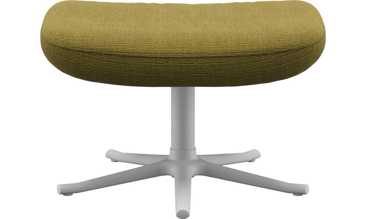 Footstools - Lucca footstool - Yellow - Fabric