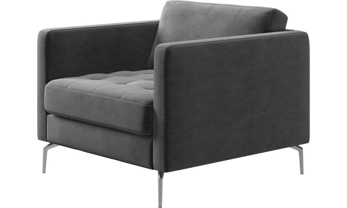 休闲椅 - Osaka椅, 簇绒坐垫 - 灰色 - 布艺