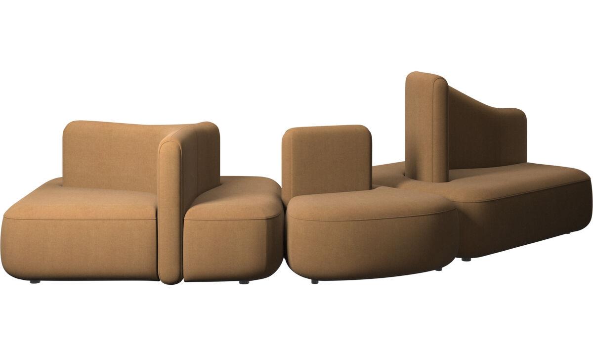 Modulárne sedačky - sedačka Ottawa - Hnedá - Látka