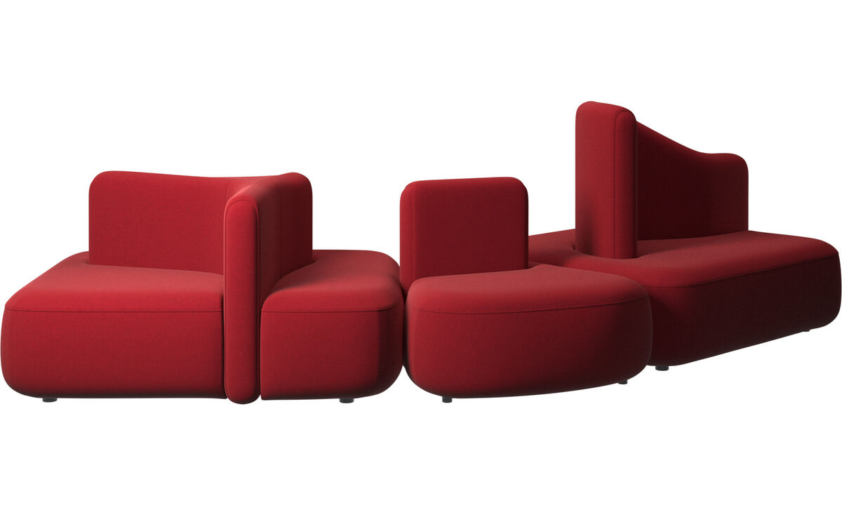 Modular sofas - Ottawa sofa - Red - Fabric