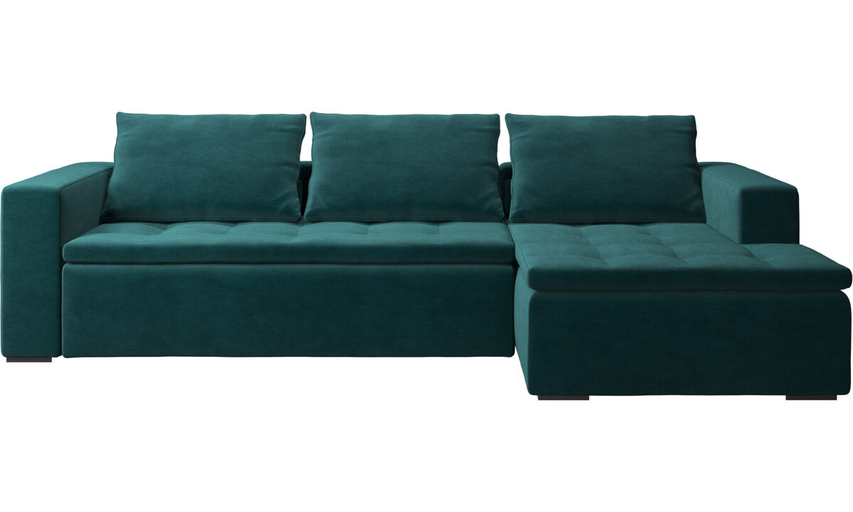 Chaise lounge sofas - Mezzo sofa with resting unit - Blue - Fabric
