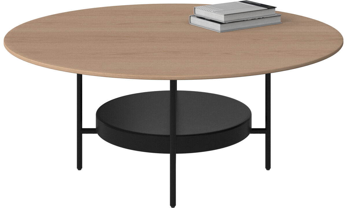 Coffee tables - Madrid coffee table - round - Brown - Oak