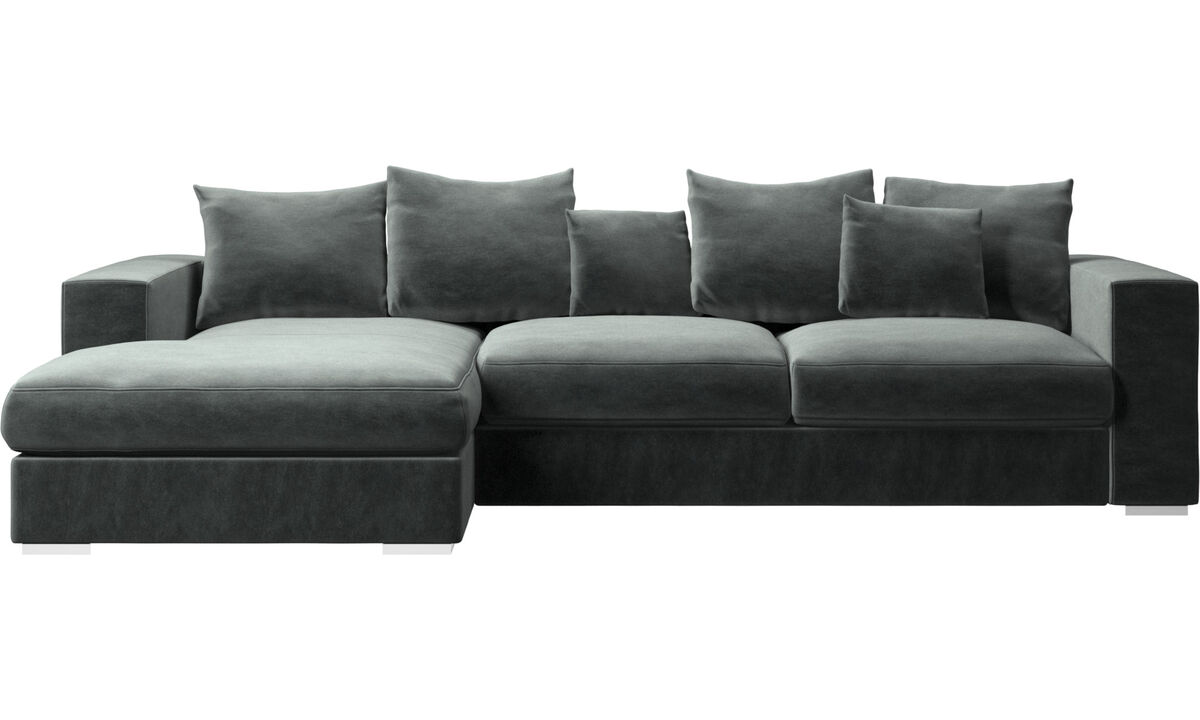 Chaise lounge sofas - Cenova sofa with resting unit - Green - Fabric