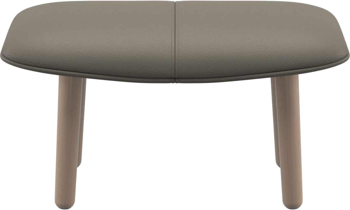 Footstools - fusion footstool - Grey - Leather