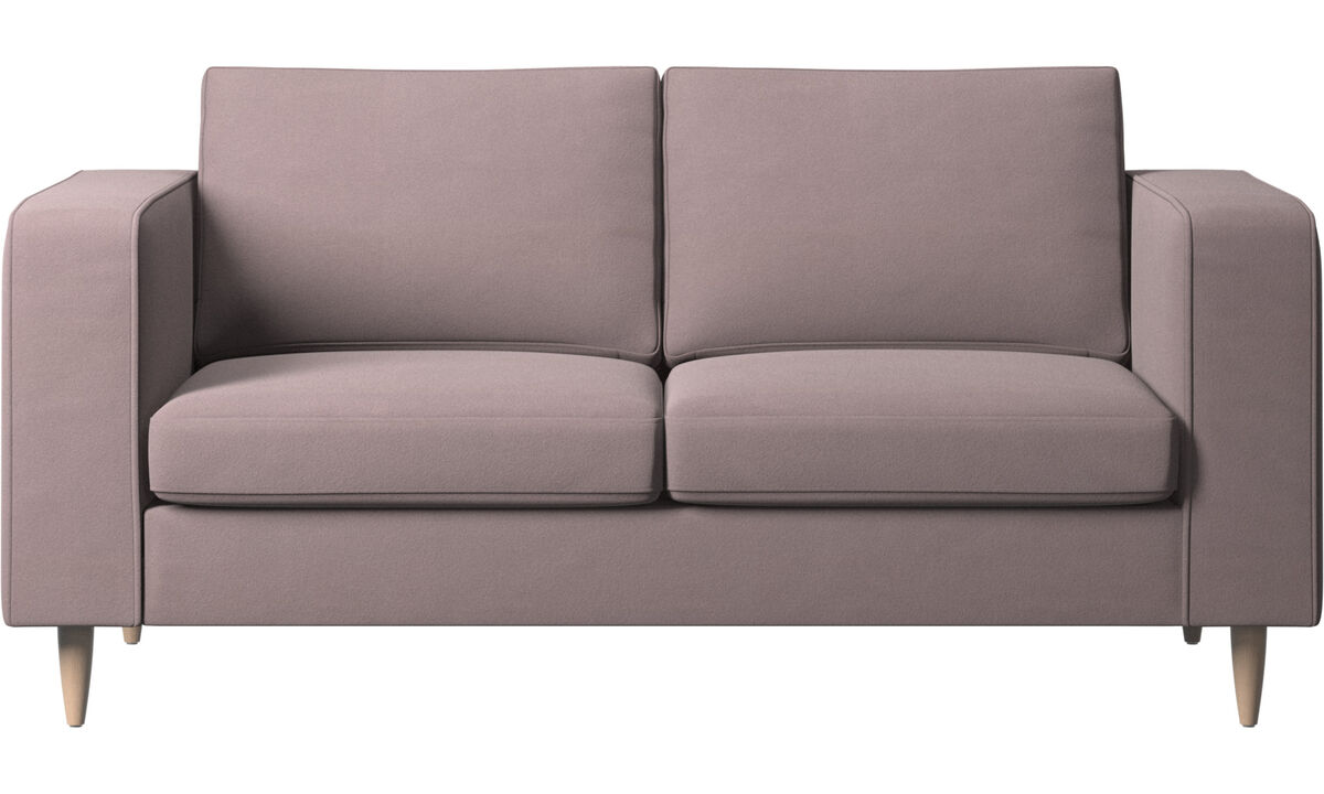 Sofás de 2 plazas - sofá Indivi - Morado - Tela