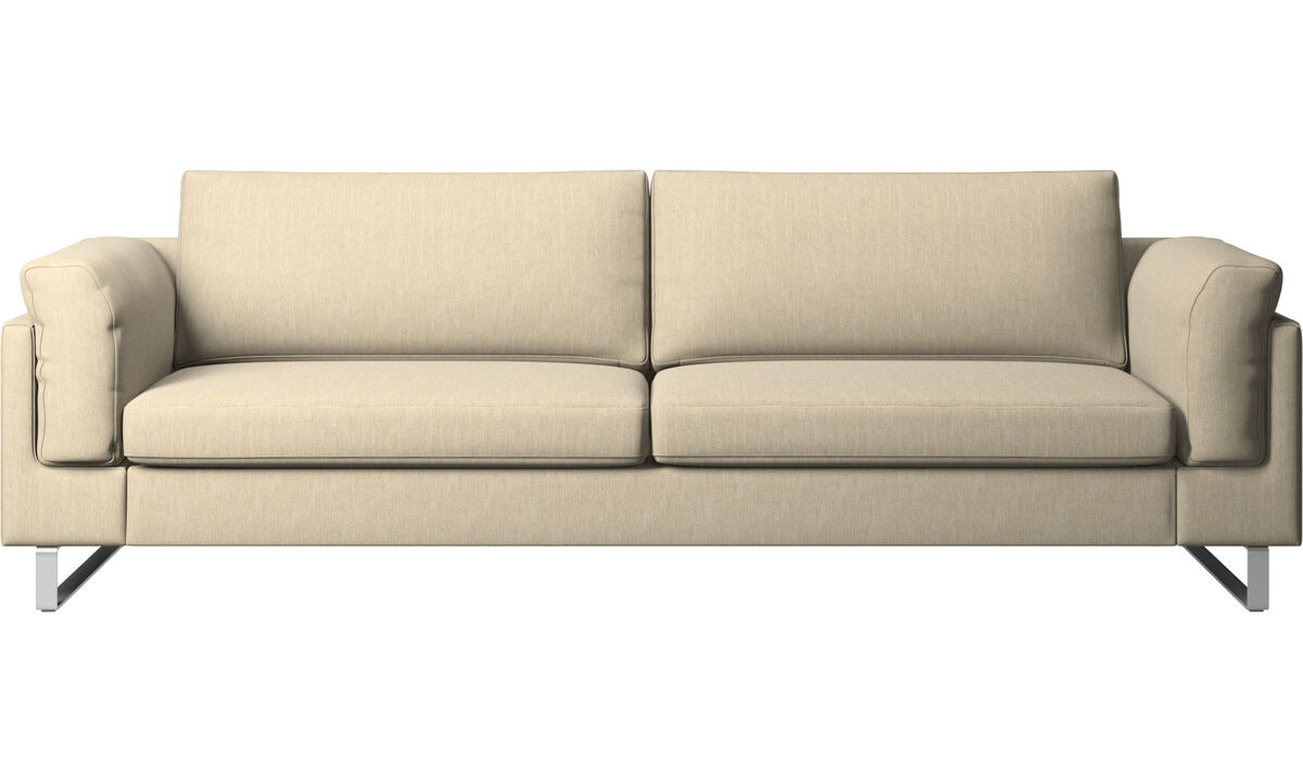 Sofas - Indivi 2 sofa - Brown - Fabric