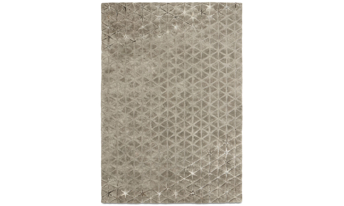 Rugs - Angular rug - rectangular - Gray - Cotton