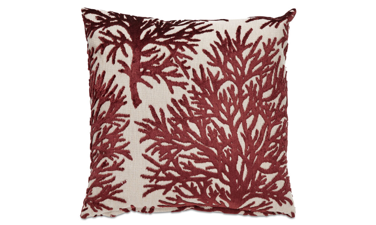 Patterned cushions - Seaweed cushion - Red - Fabric