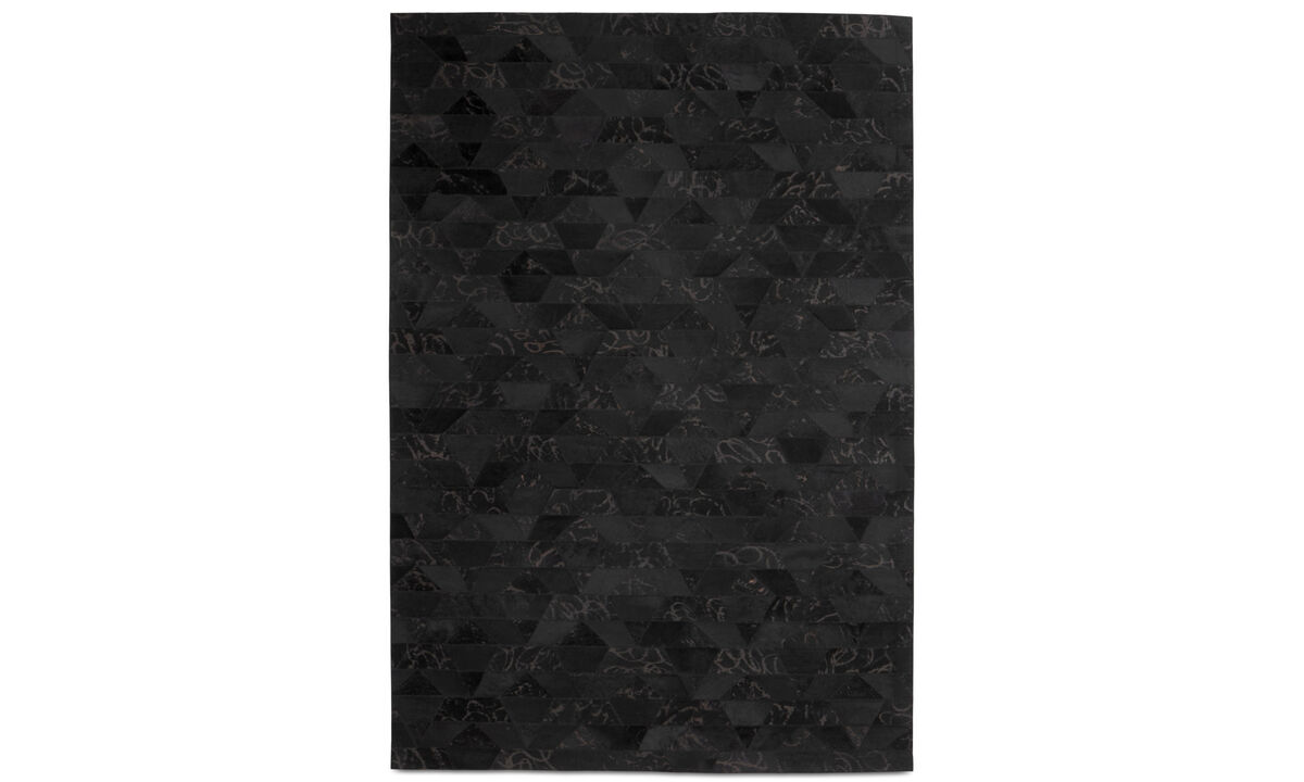 Leather rugs - Mystic rug - rectangular - Black - Leather