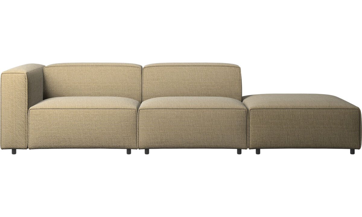 Modular sofas - Carmo sofa with lounging unit - Yellow - Fabric