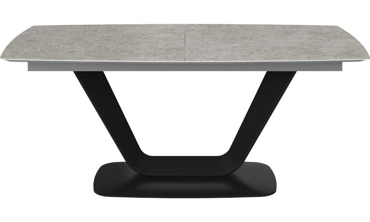 Mesas de comedor - Mesa extensible con tablero suplementario Alicante - rectangular - En gris - Cerámica