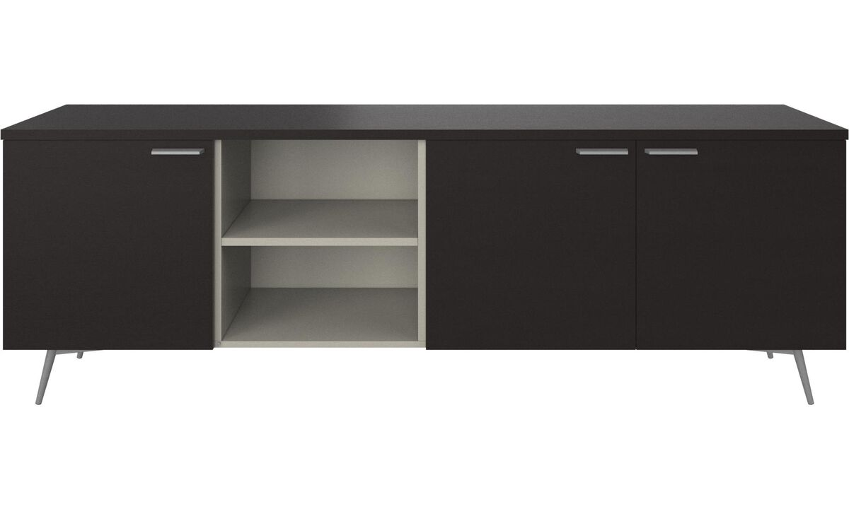 Sideboards - Milano sideboard - Black - Oak