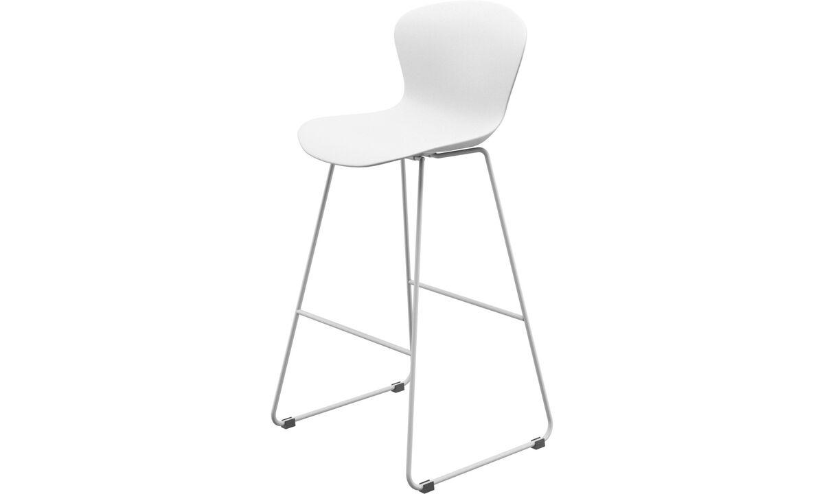 Barstole - Adelaide barstol - Hvid - Plastik