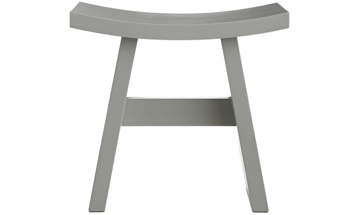 Stools - Shogun stool - Gray - Wood