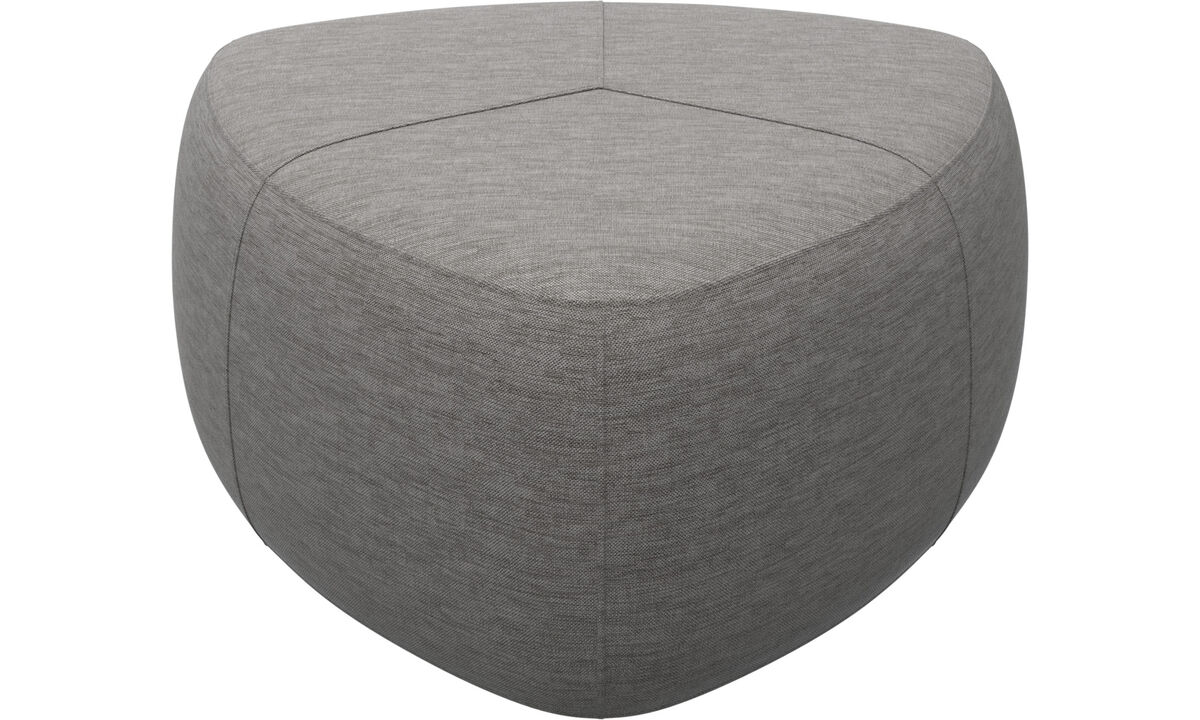 Footstools - Bermuda footstool - Grey - Fabric