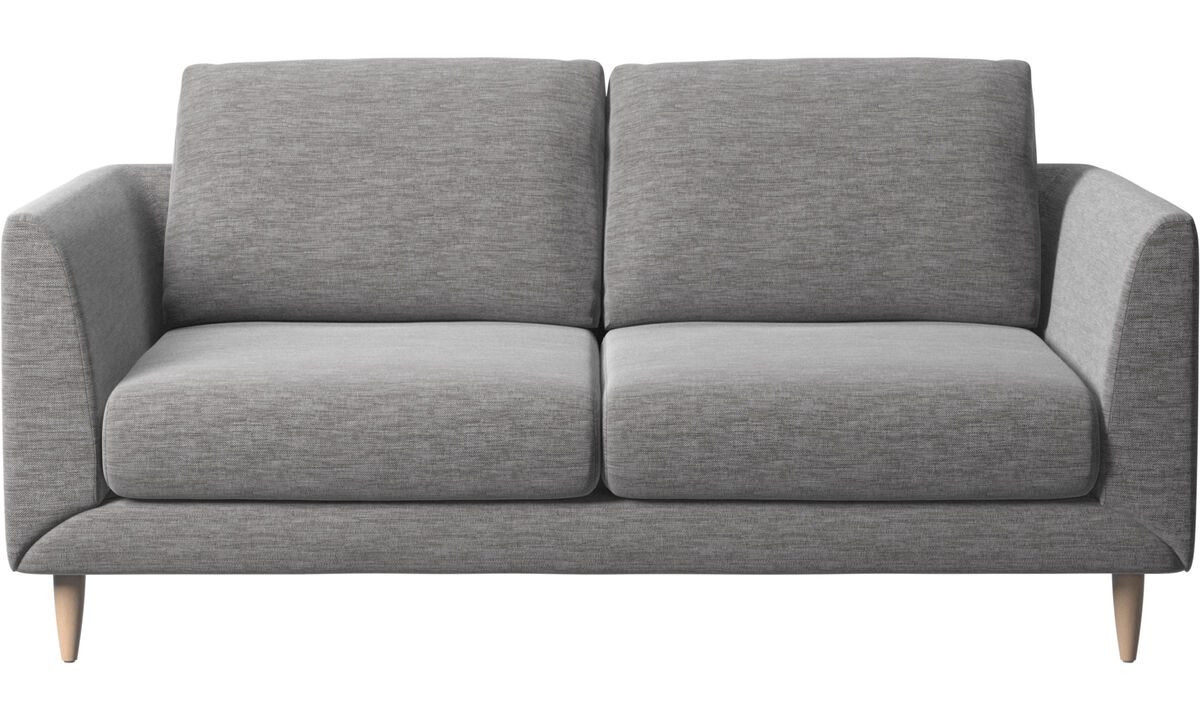 2 seater sofas - Fargo sofa - Gray - Fabric