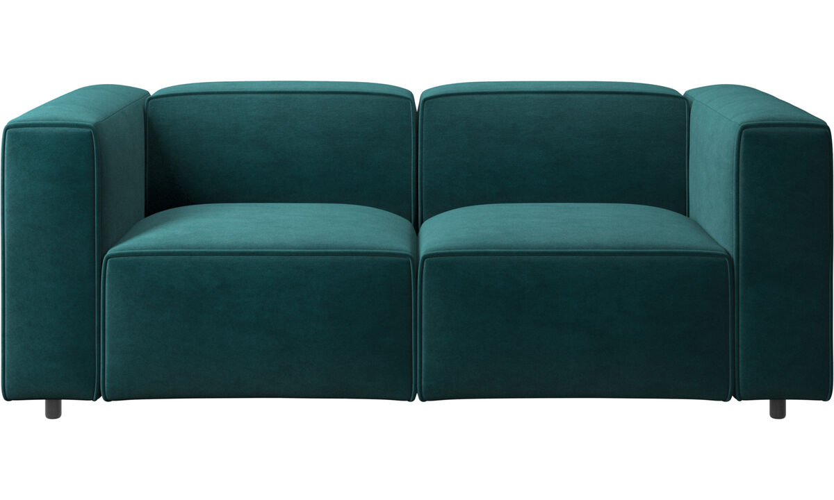2 seater sofas - Carmo sofa - Blue - Fabric