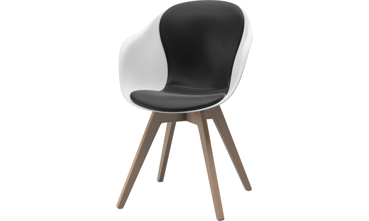 Dining chairs - Adelaide chair - Black - Leather
