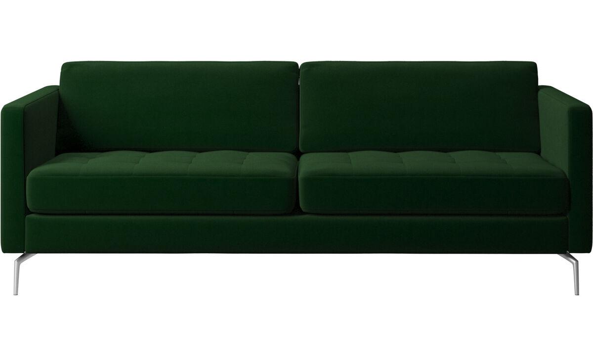2.5 seater sofas - Osaka sofa, tufted seat - Green - Fabric