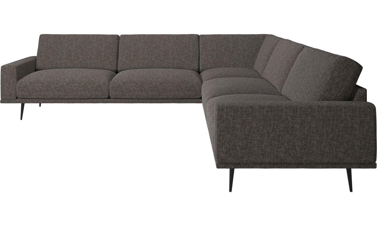 Corner sofas - Carlton corner sofa - Brown - Fabric