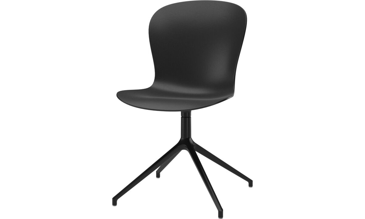 Dining chairs - Adelaide chair with swivel function - Black - Plastic