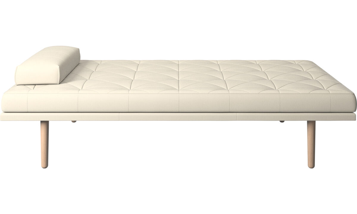 Chaise longue - fusion day bed - Wit - Leder