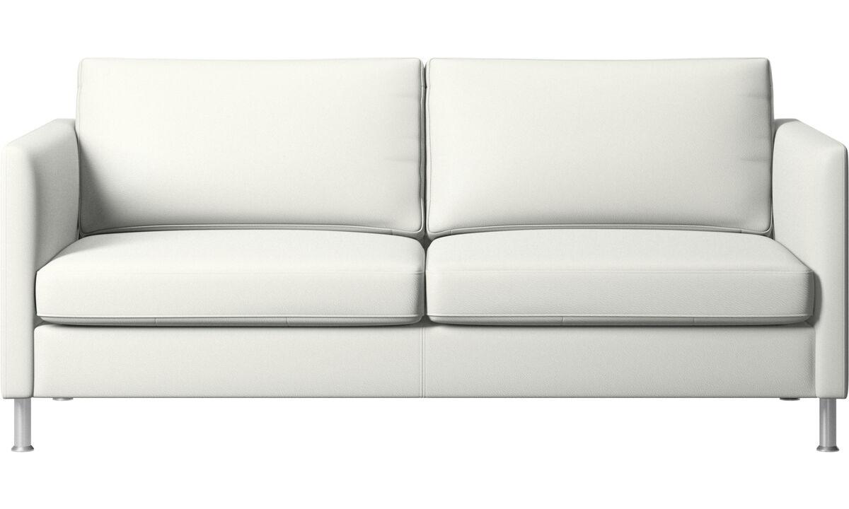2½-sitzer Sofas - Indivi Sofa - Weiß - Leder