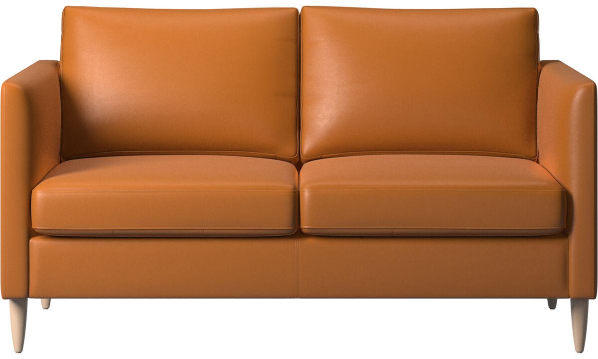 2-sitzer Sofas - Indivi Sofa - Braun - Leder