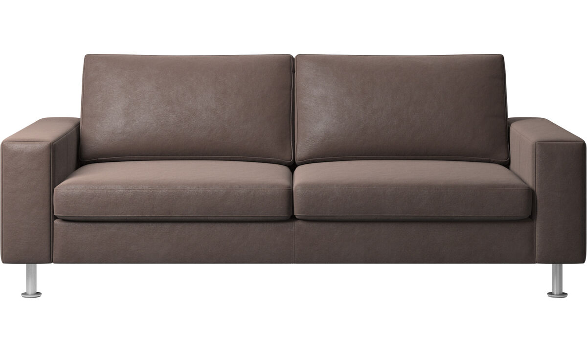 Sofa beds - Indivi 2 sofa with sleeper function - Brown - Leather