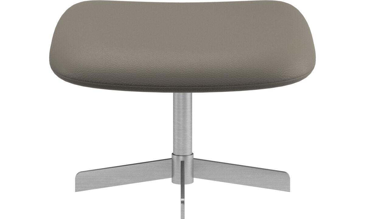 Footstools - Athena footstool - Grey - Leather