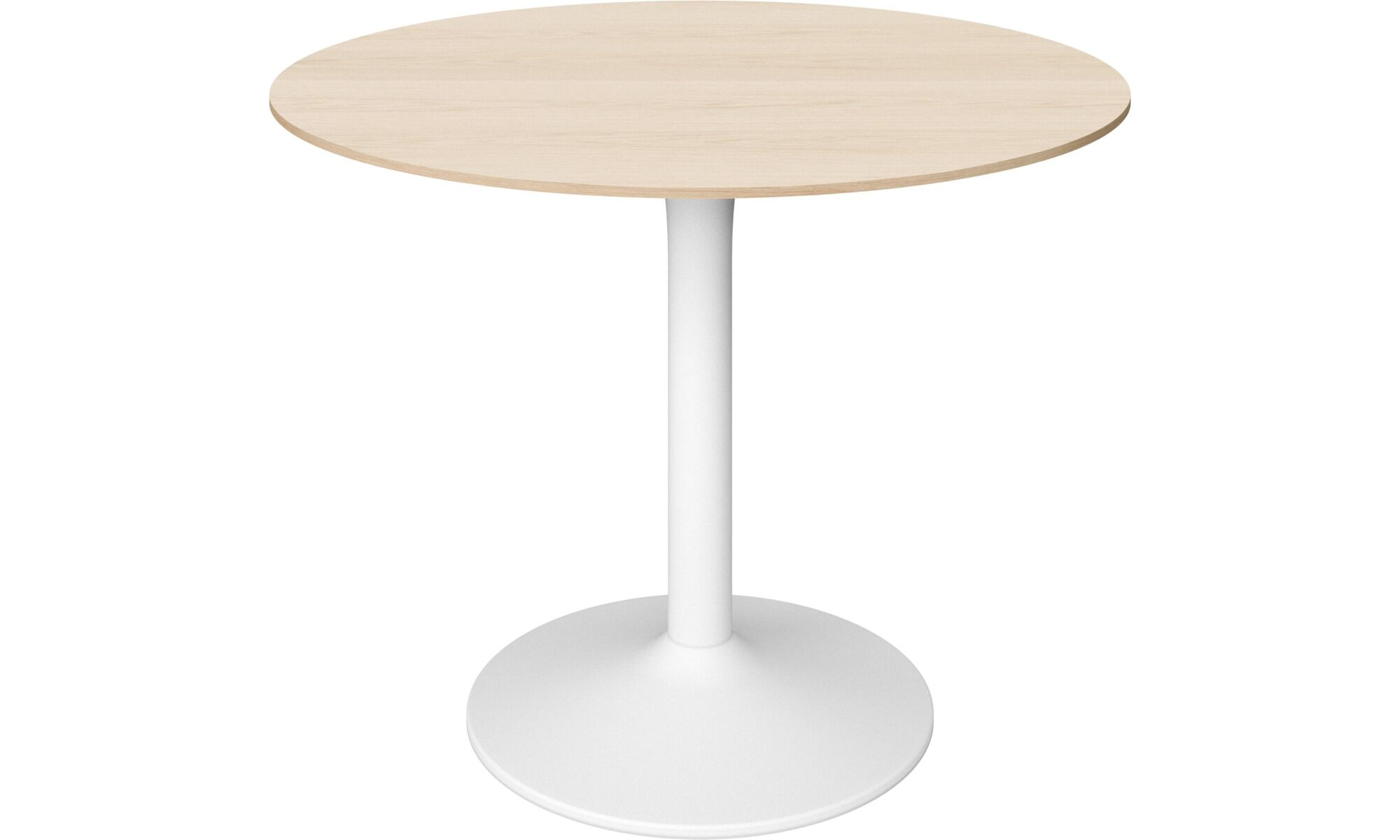 Oak Trendy White Desk Concepts Dining tables - New York table - round - Brown - Oak