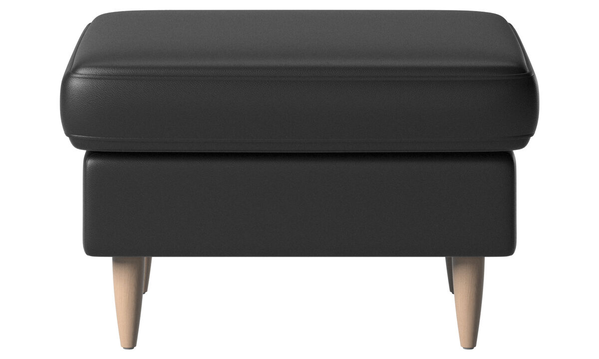Footstools - Indivi 2 footstool - Black - Leather