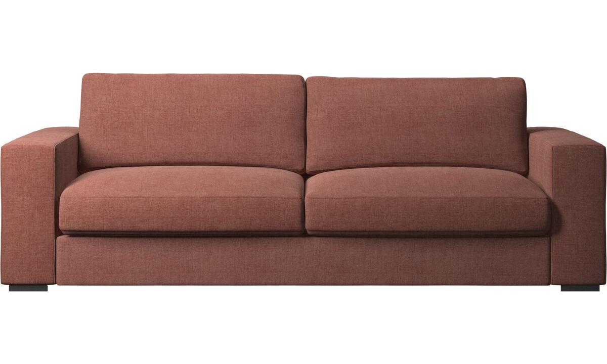 3 seater sofas - Cenova sofa - Red - Fabric