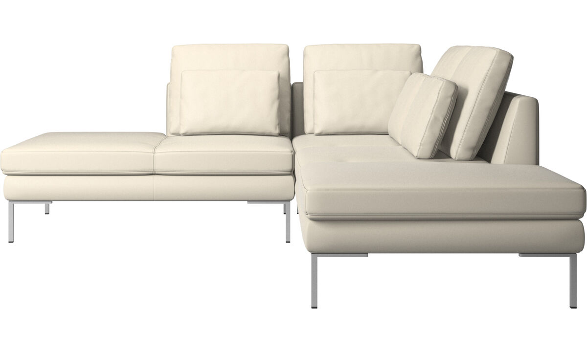 Sofas with open end - Istra 2 divano con lounge - Bianco - Pelle