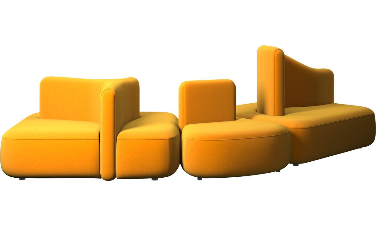Sofás modulares - Sofá Ottawa - Naranja - Tela