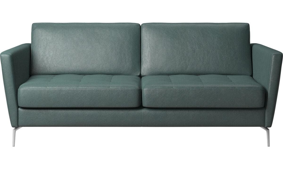 Sofa beds - Osaka sofa with sleeper function, tufted seat - Green - Fabric