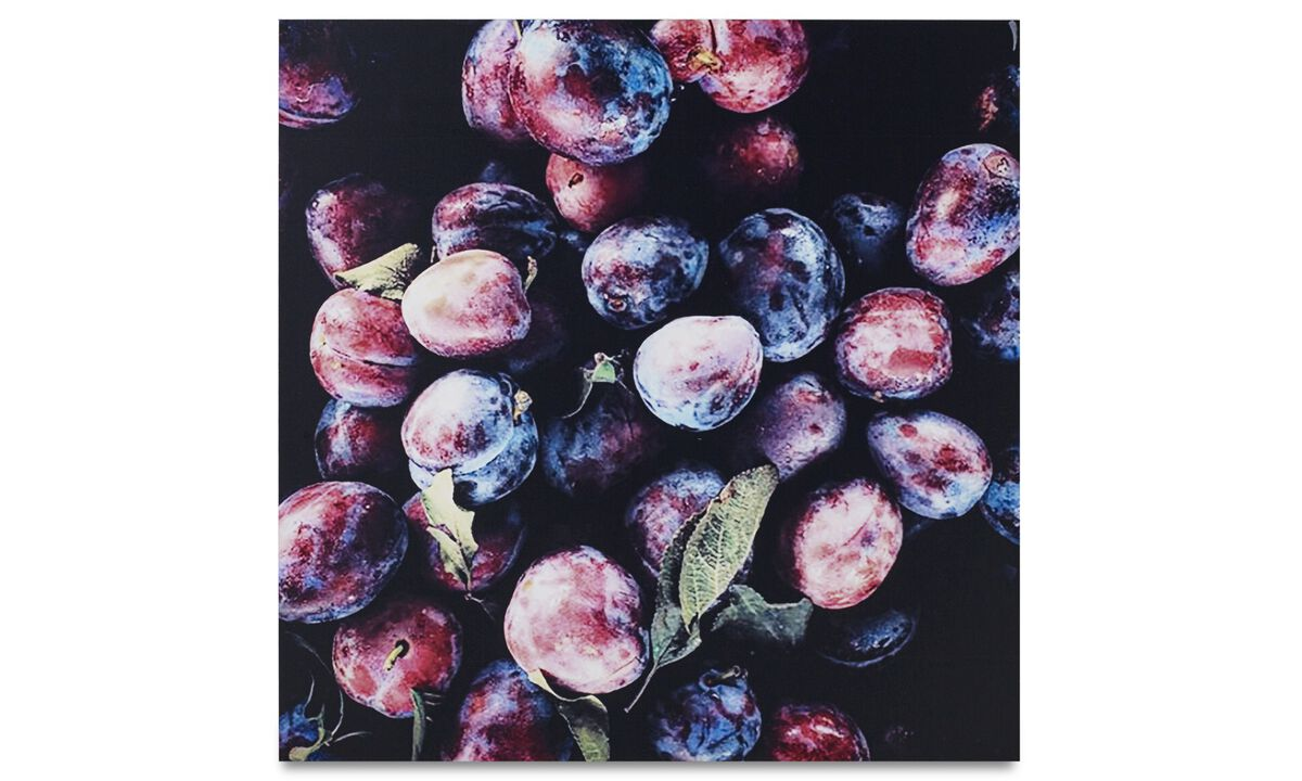 New designs - Plums metal print - Metallo