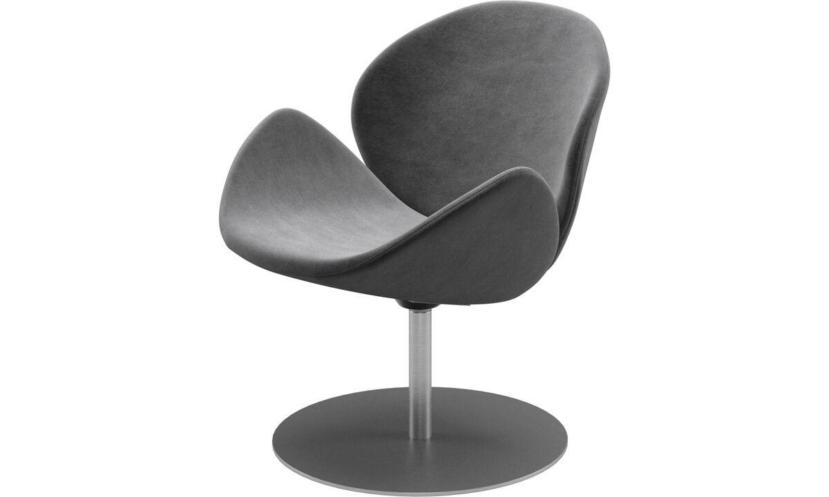 休闲椅 - 带旋转功能的Ogi椅子 - 灰色 - 布艺