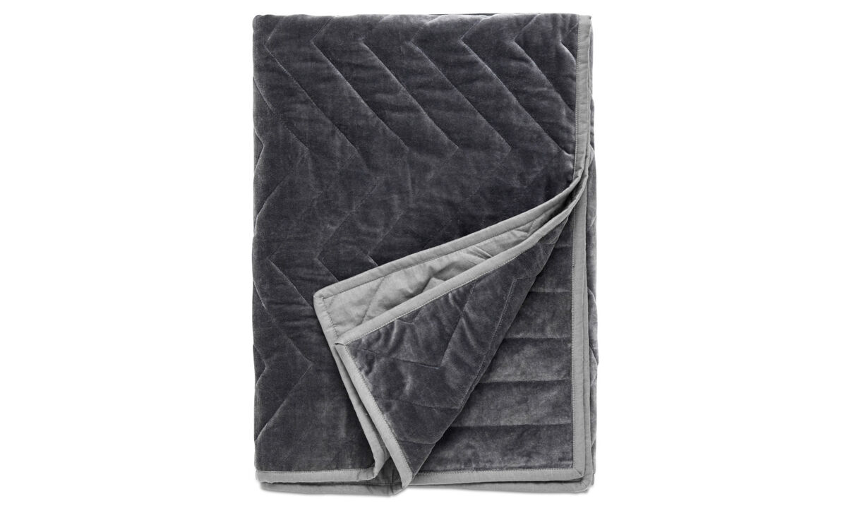 Throws & bedspreads - Quilt plaid - Grey - Fabric