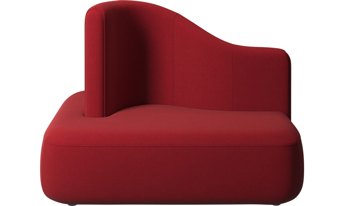 Sofás modulares - Módulo Ottawa encosto alto - Vermelho - Tecido