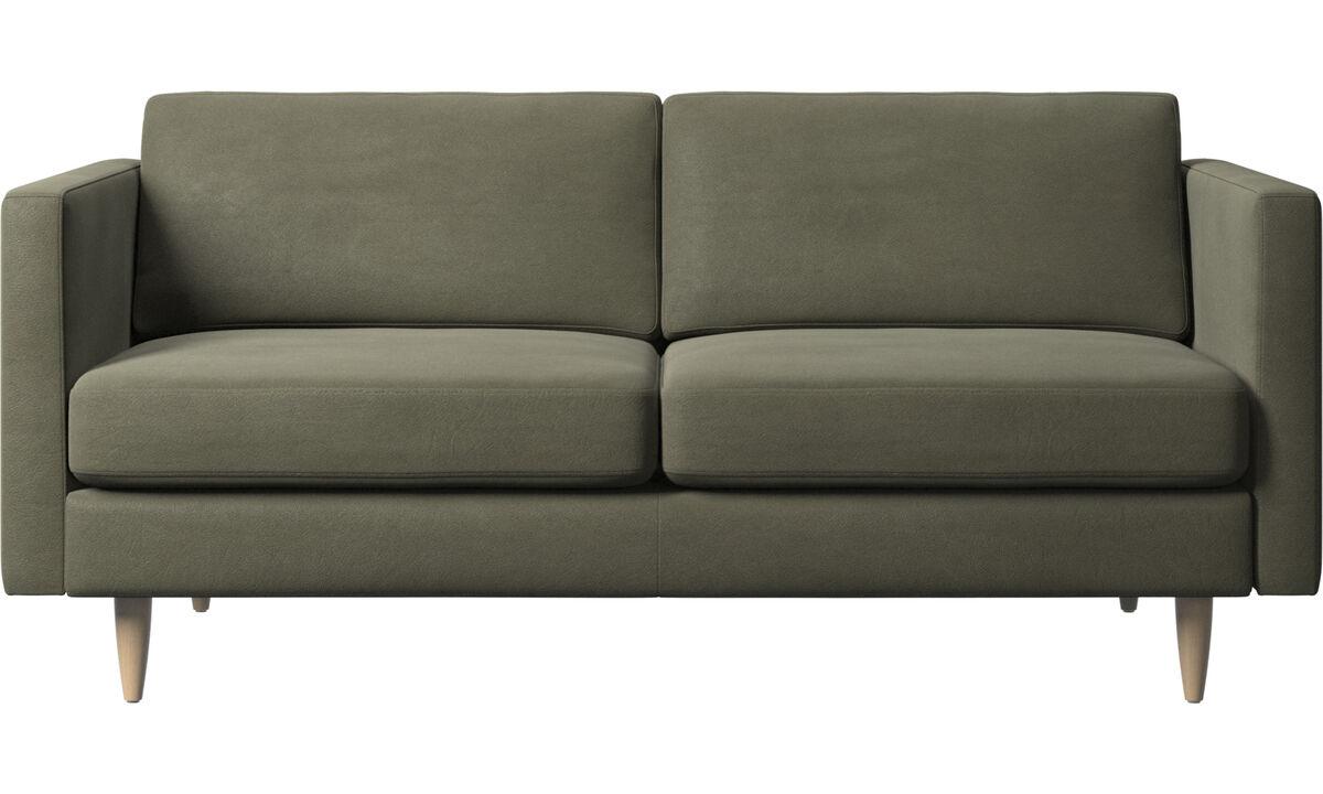 2 seater sofas - Osaka sofa, regular seat - Green - Leather