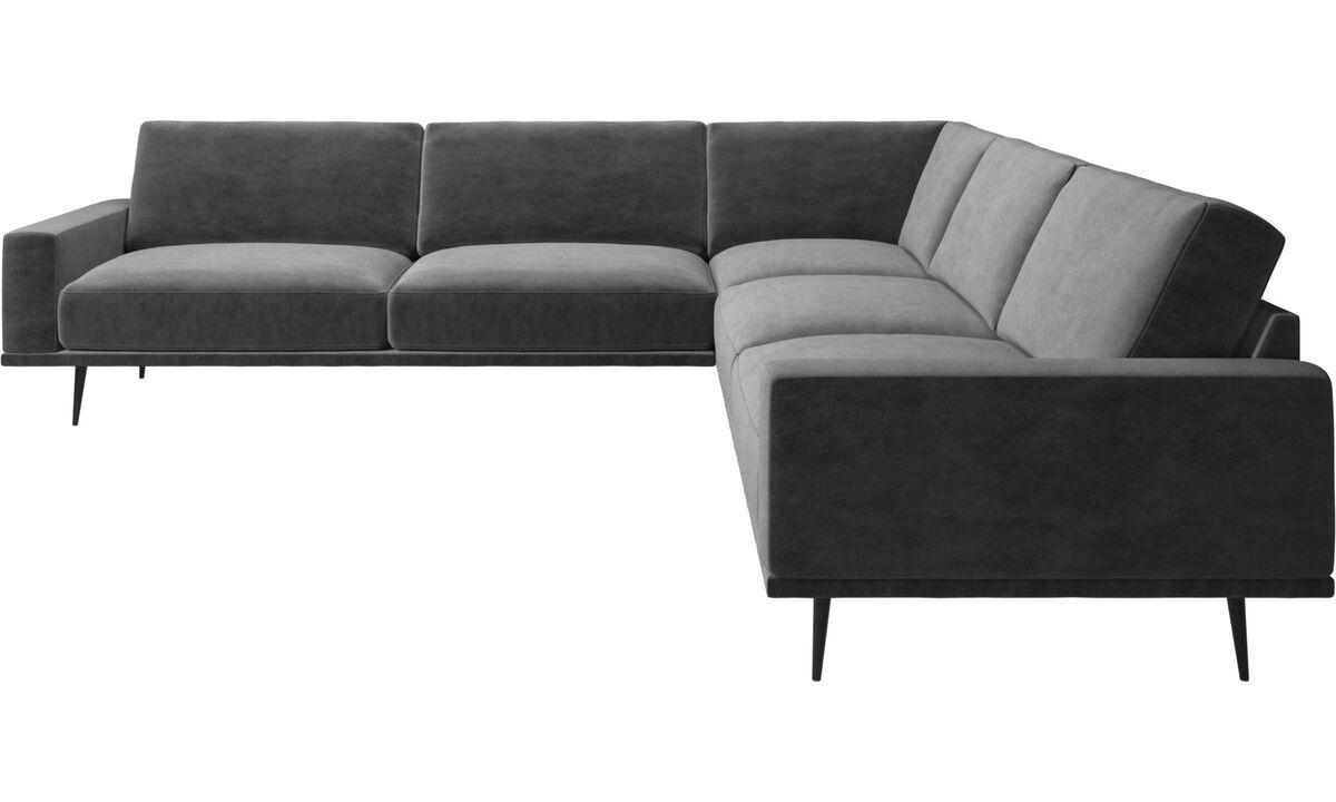 New designs - Carlton corner sofa - Gray - Fabric