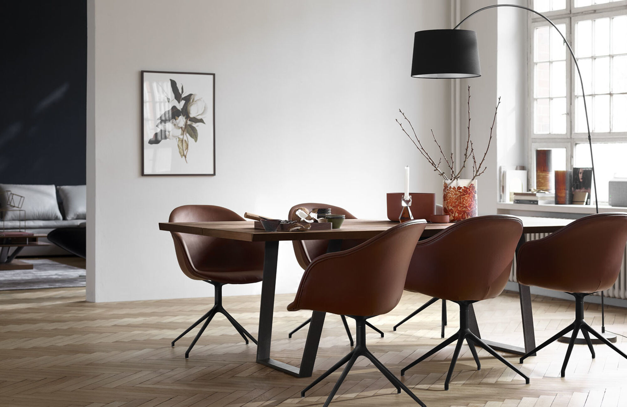 Brown chairs and armchairs - Adelaide chair with swivel function