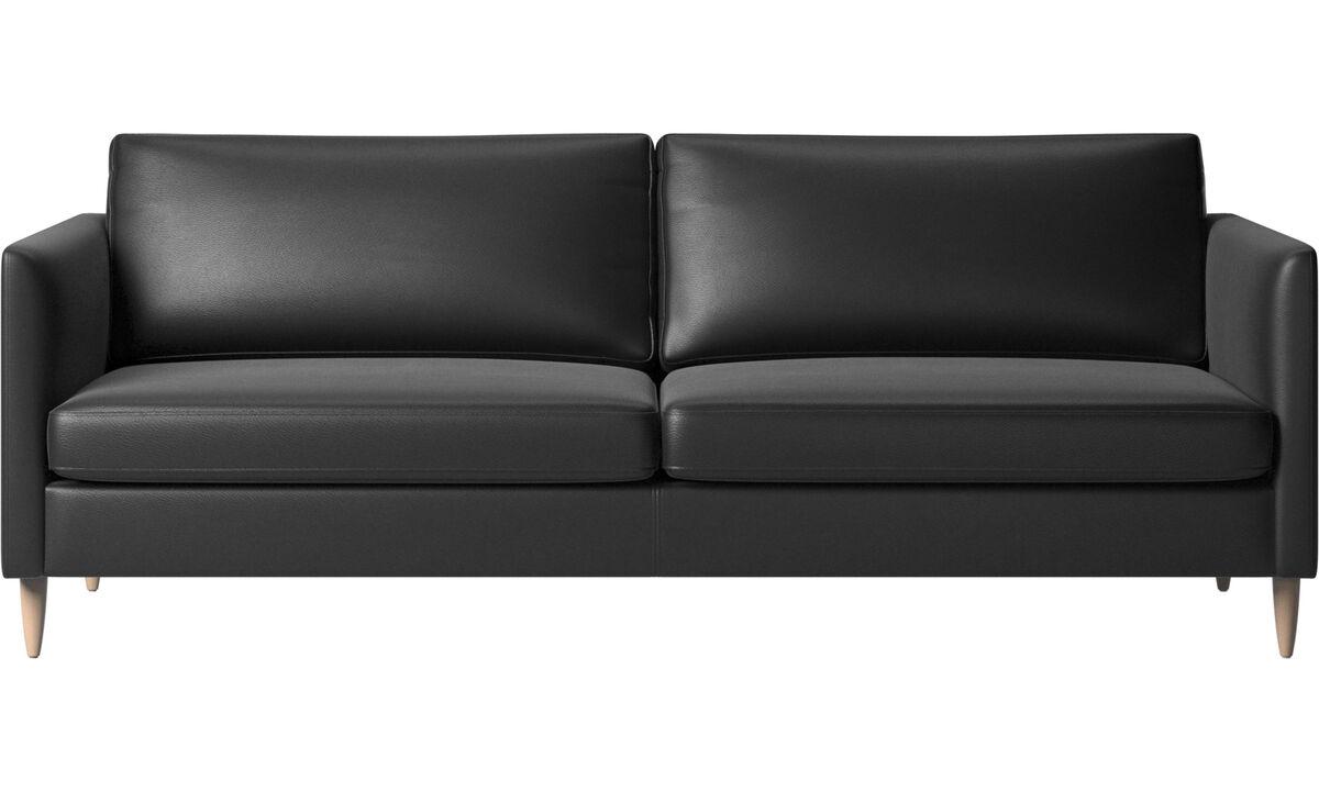3 seater sofas - Indivi sofa - Black - Leather