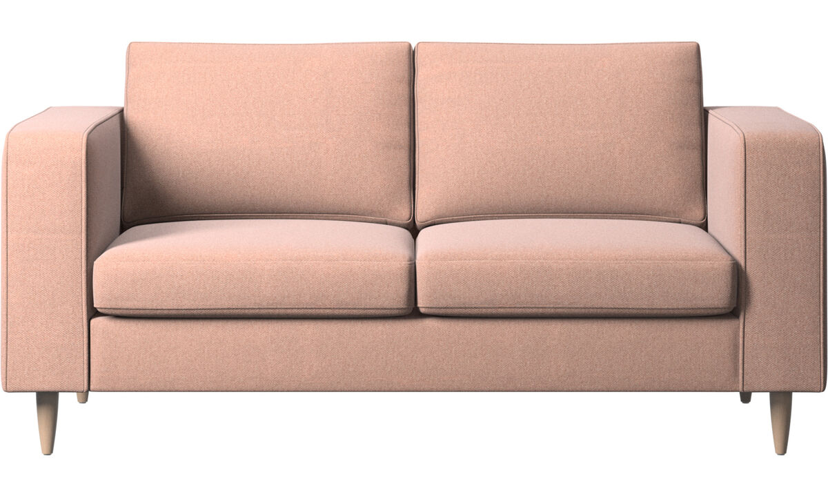 2 seater sofas - Indivi 2 sofa - Red - Fabric