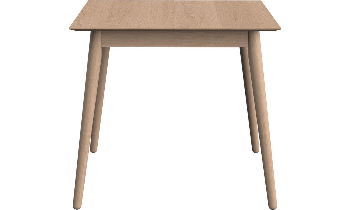 Mesas de comedor - Mesa extensible con tablero suplementario Milano - cuadrado - En marrón - Roble