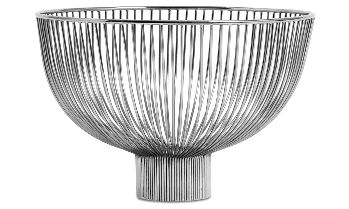 Decoración - bol Line - En gris - De metal