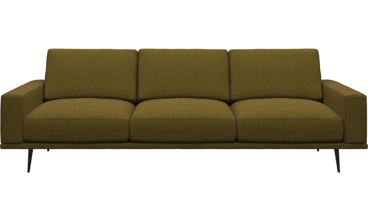 Sofás de 3 plazas - sofá Carlton - En amarillo - Tela
