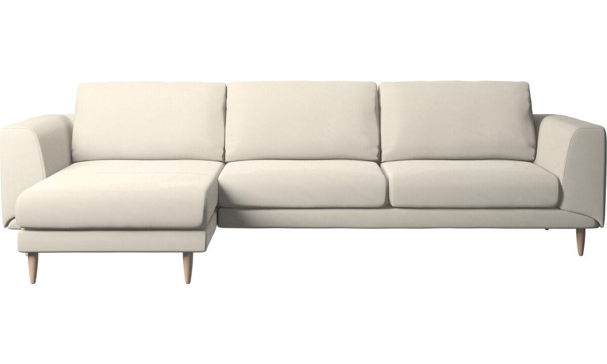 Chaise lounge sofas - Fargo sofa with resting unit - White - Fabric
