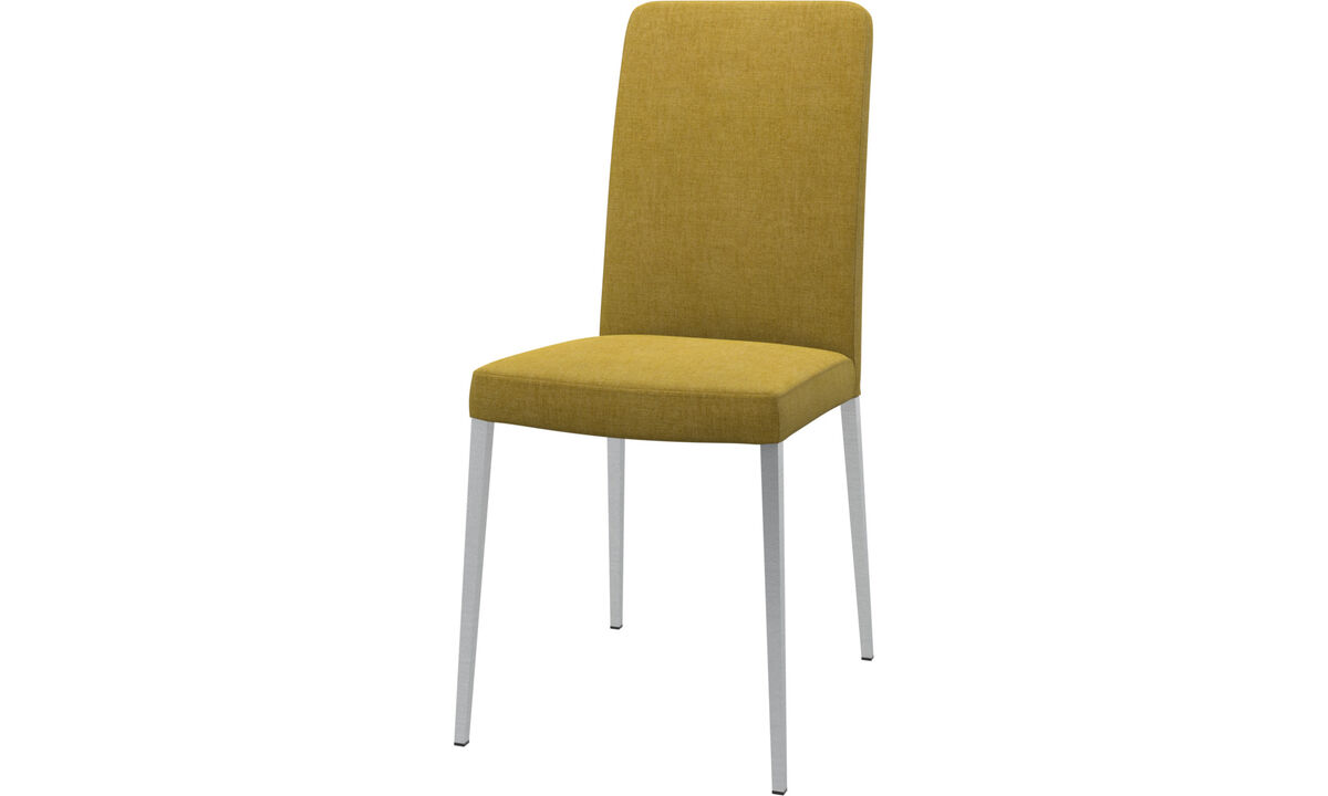 Dining chairs - Nico chair - Yellow - Fabric